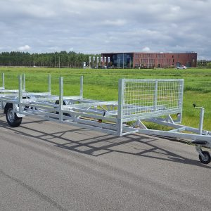 Middenas buizenwagen aanhangwagen 1