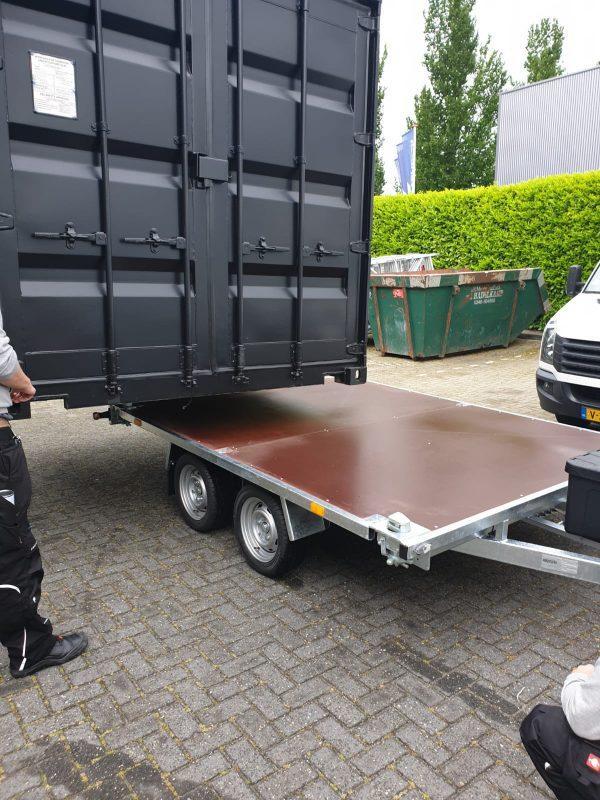 Containeraanhangwagen 10ft - Plateauwagen 4