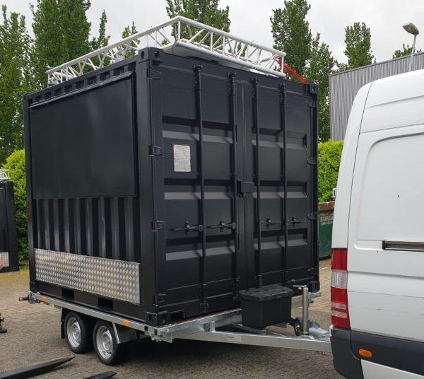 Containeraanhangwagen 10ft - Plateauwagen 5