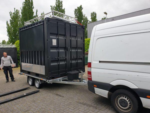 Containeraanhangwagen 10ft - Plateauwagen 7
